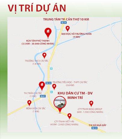 vị trí dự án Khu dân cư Minh Trí