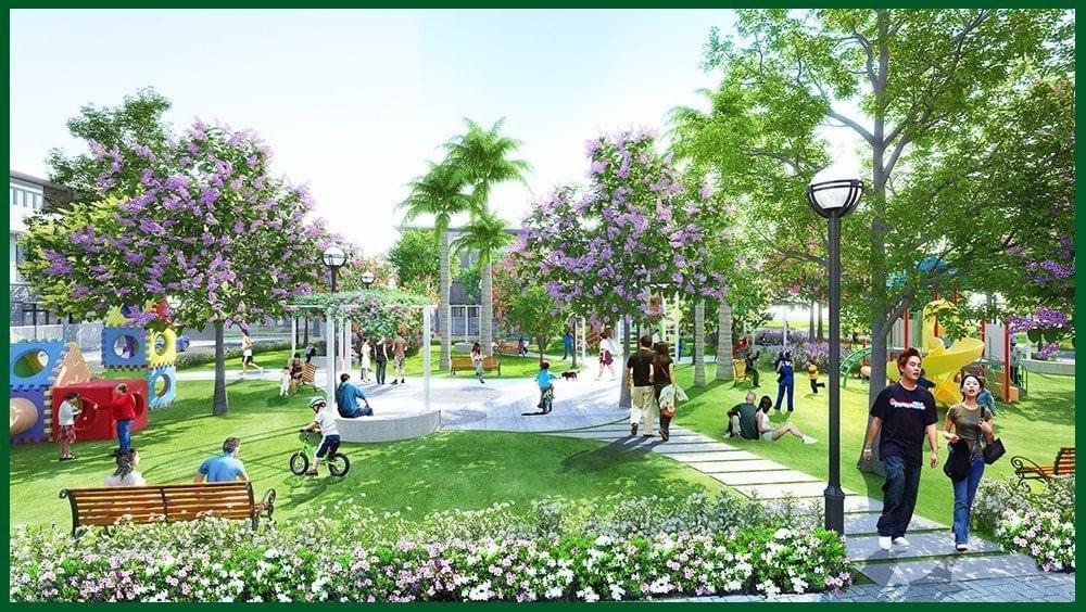 Khu dân cư Minh Trí Tiện ích nội khu đầy đủ, hiện đại